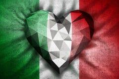 Liebesherz-Italien-Flagge Lizenzfreie Stockbilder