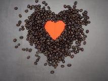 Liebesherz valentine& x27; s-Tagesfahnenhintergrund stockbild