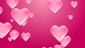 Liebesherzen des Fliegens 4k mit Alphalech Valentinsgruß ` s Tageshintergrund Loopable stock footage