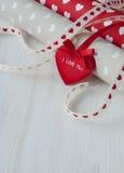 Liebesherzen Valentins Tagesnahtloses Muster Stockfotografie