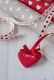 Liebesherzen Valentins Tagesnahtloses Muster Stockfotos