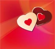 Liebeshintergrund des Valentinsgrußes Lizenzfreies Stockbild