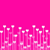 Liebeshintergrund mit Inneren lizenzfreie abbildung