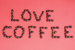 Liebeskaffee Stockfoto