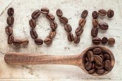Liebeskaffeekonzept Lizenzfreies Stockfoto