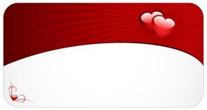Liebeskarte Stockbild