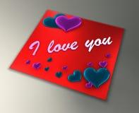 Liebeskarte Stockfotografie