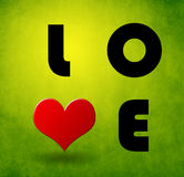 Liebeskarte des Valentinsgrußes Lizenzfreie Stockfotos