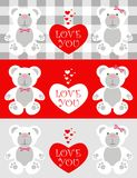Liebeskarte Teddybär Lizenzfreie Stockbilder