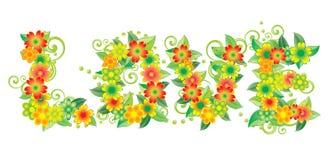 Liebeskarte von den Blumen Lizenzfreie Stockfotos