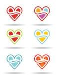 Liebeskonzept mit abstrakter Herzikone Stockbild