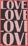 Liebeskonzept - nicht unterschiedliche Buchstaben! Stockbild