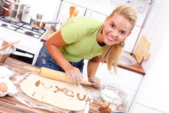 Liebesmeldung in der Küche lizenzfreie stockfotografie