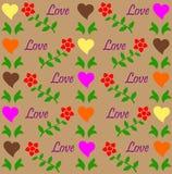 Liebesmuster Stockbild
