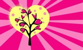 Liebesmusterhintergrund mit Retrostilstrahlen Lizenzfreies Stockbild