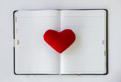 Liebesnotizbuch Lizenzfreie Stockfotografie