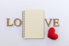 Liebesnotizbuch Stockbilder