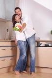 Liebespaarküche stockbilder