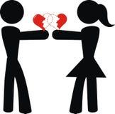 Liebespiktogramm Lizenzfreie Stockfotografie