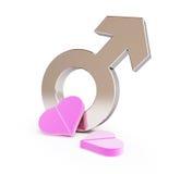 Liebespille für Männer Lizenzfreie Stockfotos