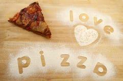 Liebespizza Lizenzfreie Stockfotos