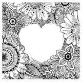 Liebesplakatschablone mit von Hand gezeichneten Gekritzelelementen Lizenzfreie Stockfotografie