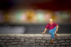 Liebesprobleme - Verhältnis-Fragen - Einsamkeit Stockfoto