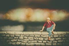 Liebesprobleme - Verhältnis-Fragen - Einsamkeit Stockbild