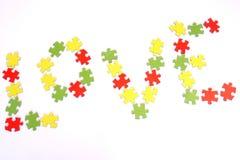 Liebespuzzlespiel lizenzfreies stockfoto