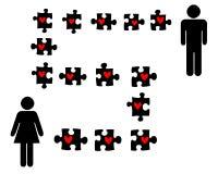 Liebespuzzlespiel lizenzfreie abbildung