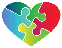 Liebespuzzlespiel Stockbilder