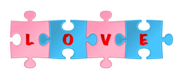 Liebespuzzlespiel. Vektor Lizenzfreie Stockfotografie