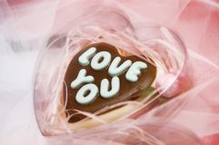 Liebesschokolade Lizenzfreie Stockfotos