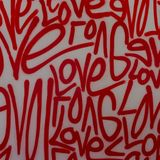 Liebesstraßenkunst-Graffitisprühfarbe stockfoto