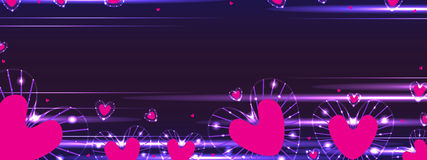 Liebesstrahlnfahne Stockfoto