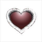 Liebessymbol auf einem weißen Hintergrund stockbild