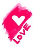 Liebessymbol und Wort '' Liebe '' Stockfotografie