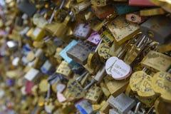 Liebessymbole in Paris, Frankreich Stockfoto