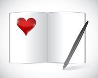 Liebestagesordnungs-Illustrationsdesign Stockbild