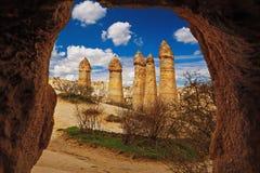 Liebestal nahe Goreme, die Türkei stockbilder