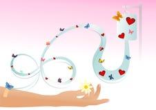 Liebestransfusion Stockbild