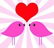 Liebesvögel vektor abbildung