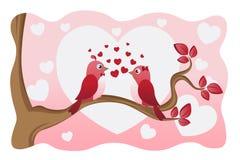 Liebesvögel stock abbildung