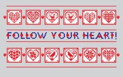 Liebesverzierungs-Grußkarte in der ethnischen Art Lizenzfreies Stockbild