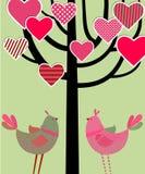 Liebesvogelkarte Stock Abbildung