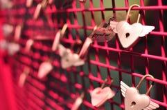 Liebesvorhängeschloß Stockbilder