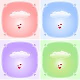 Liebeswolkenset Stockbilder