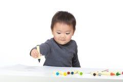 Liebeszeichnung des kleinen Jungen Stockbild