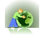 Liebevolle Erde Lizenzfreie Stockbilder