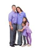 Liebevolle gemischtrassige Familie mit Eltern und Kindern Stockbilder